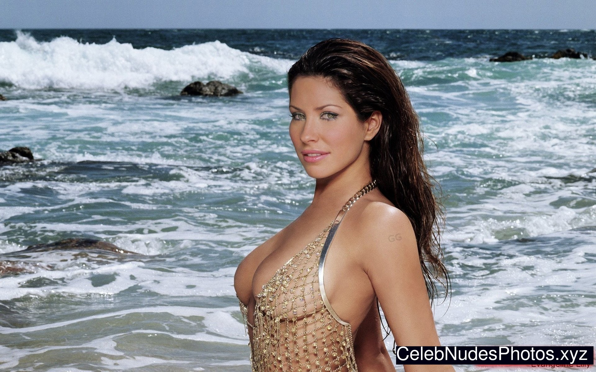 Evangeline Lilly Celebrity Nude Pic sexy 13