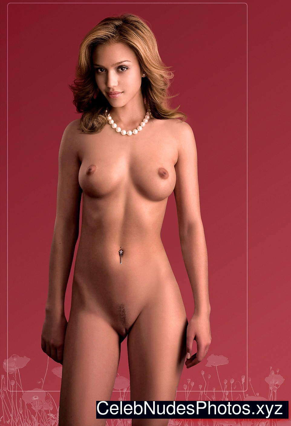 jessica alba nude drawing