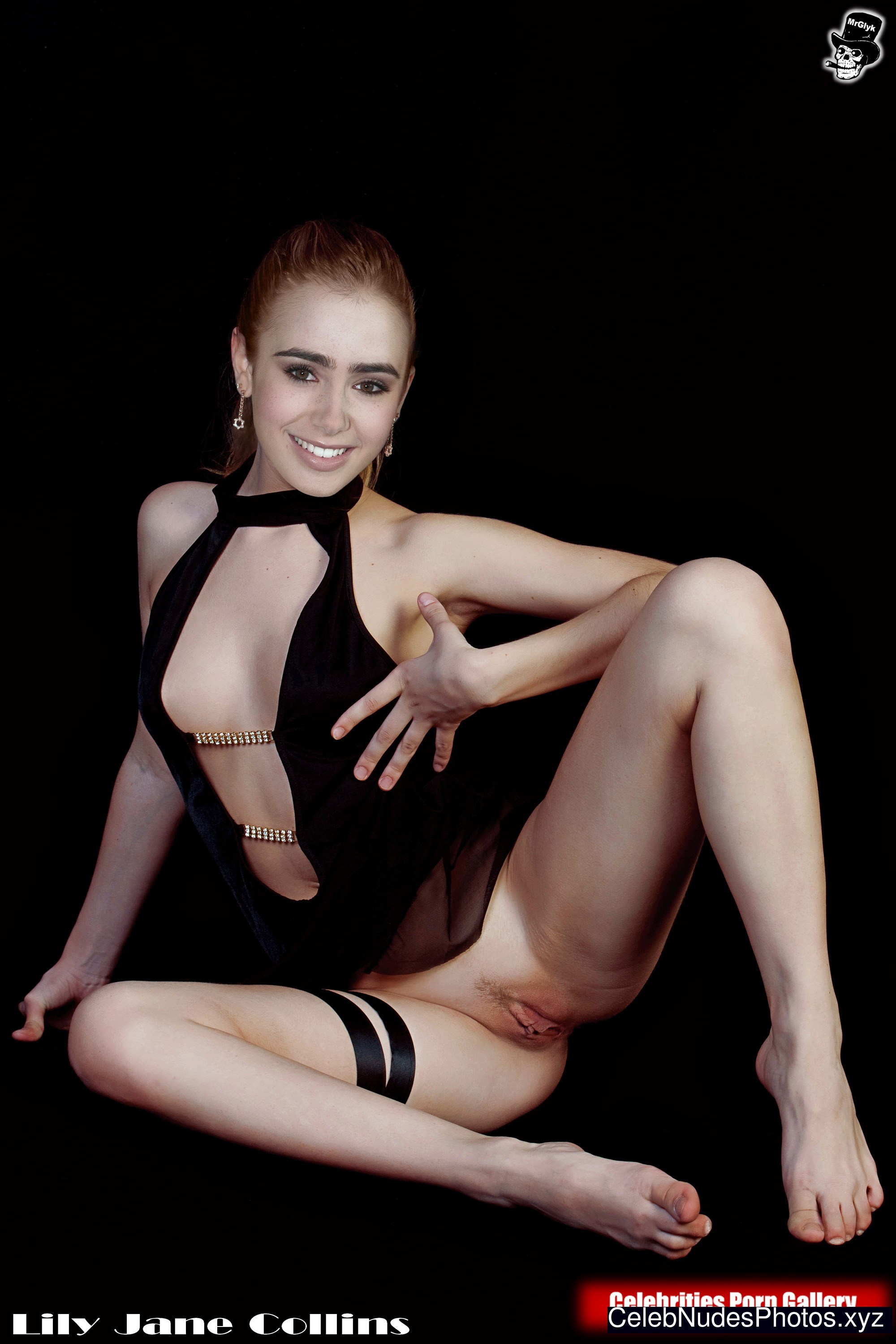 lily collins hot naked