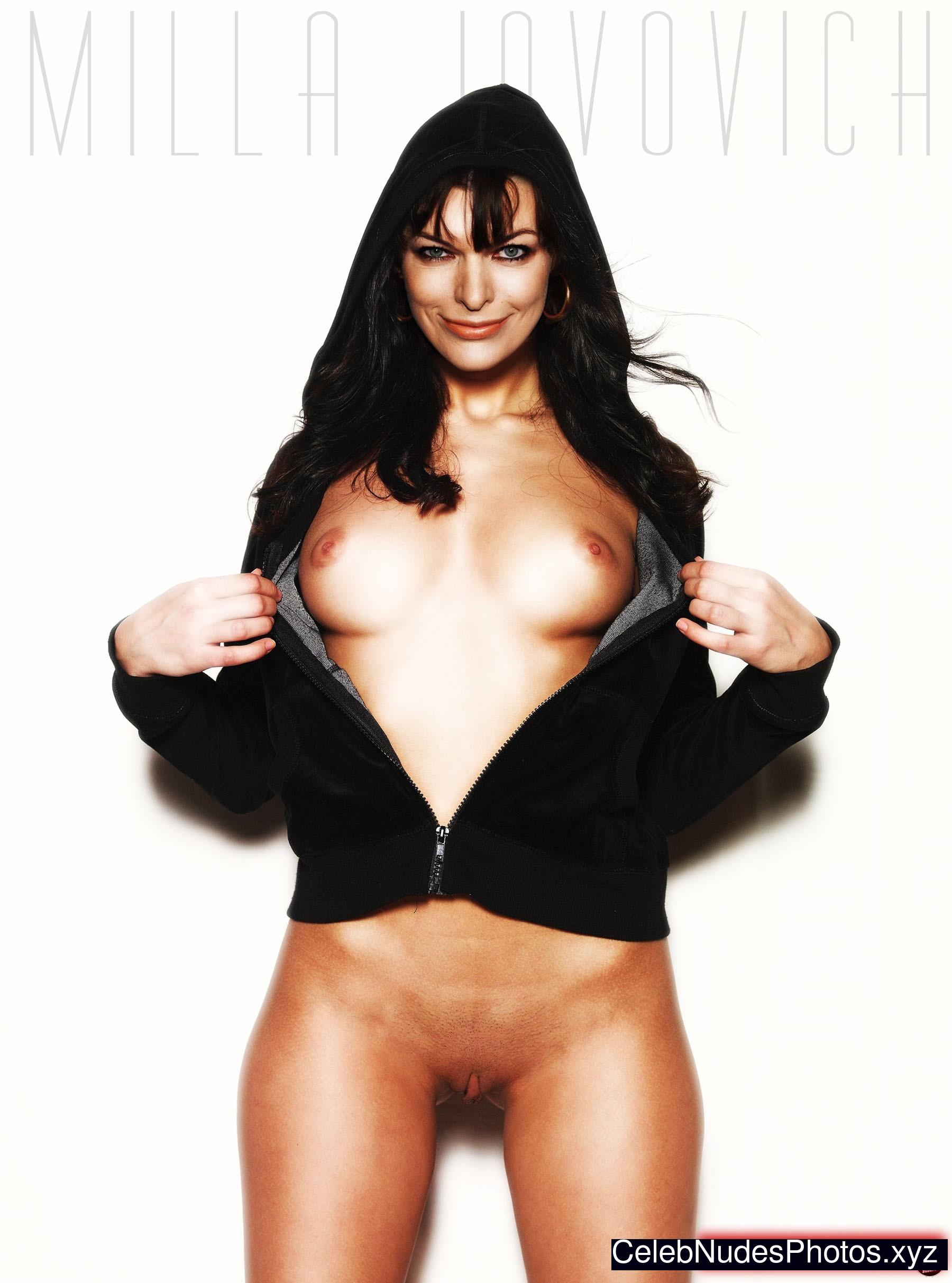 mila naked