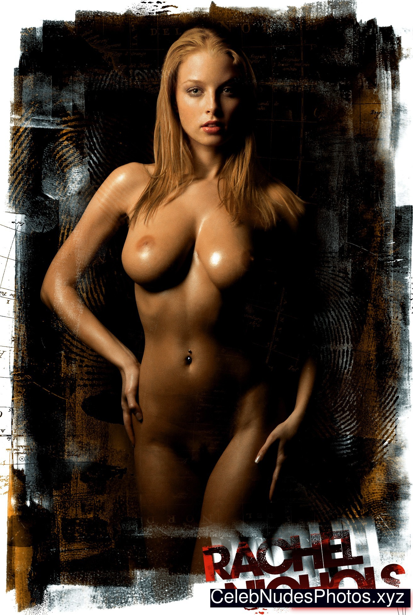 naked playboy girl in action with dildo
