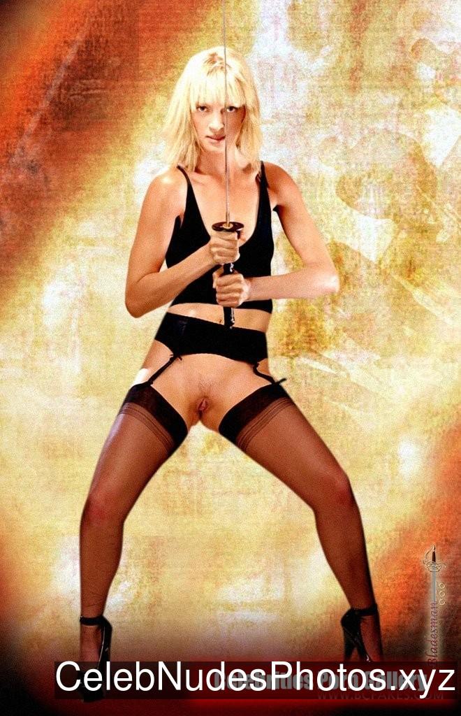 Uma Thurman Celebrity Leaked Nude Photo sexy 19