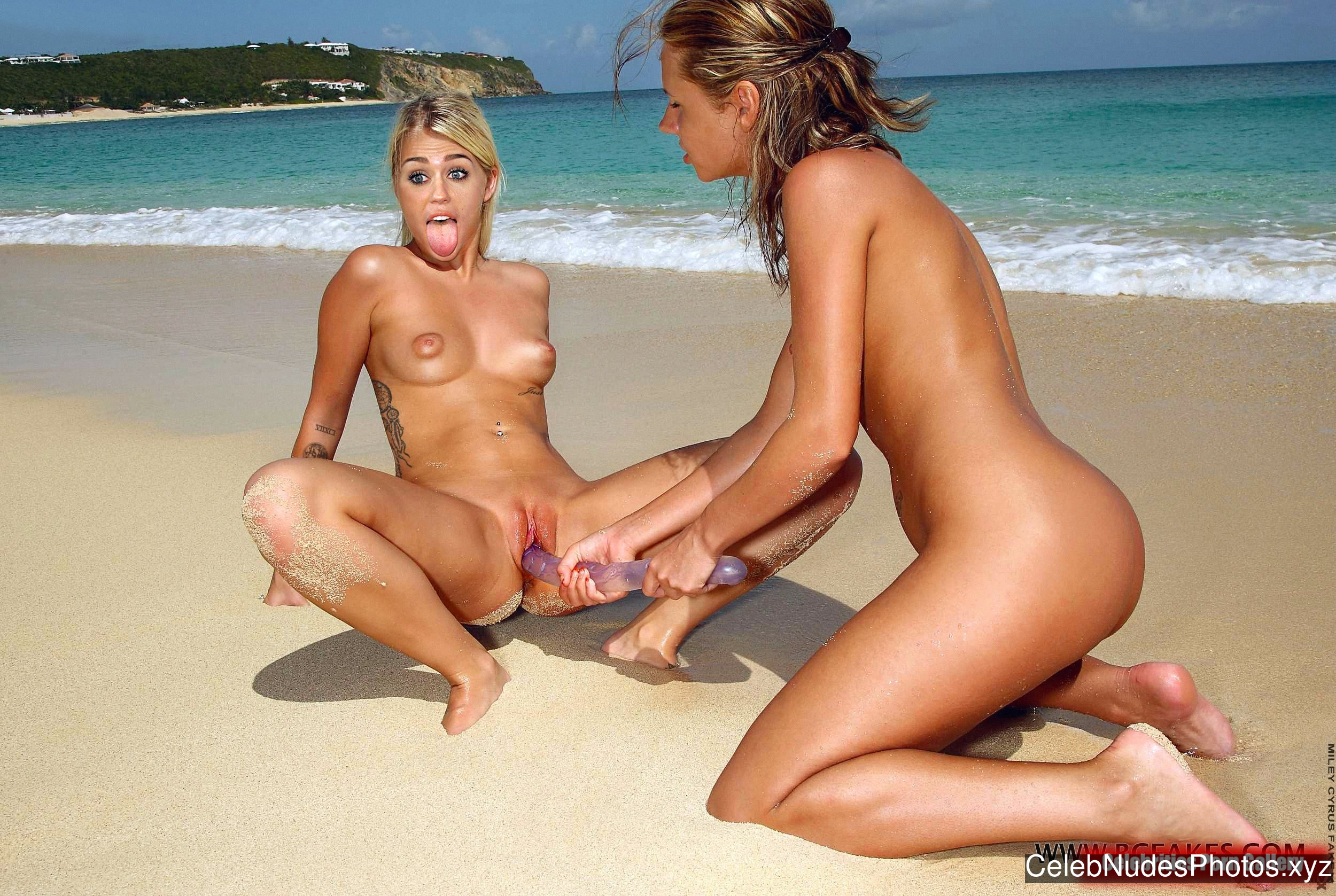 Miley Cyrus naked celebrities