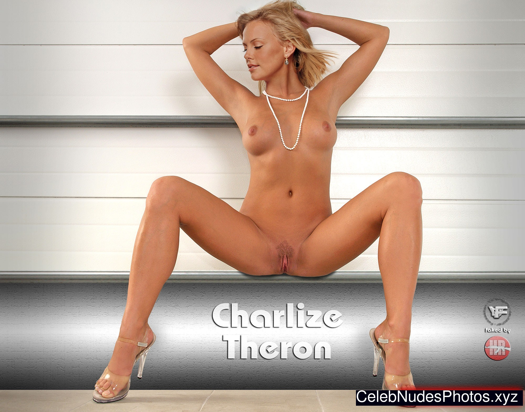 charlize theron naked with feet