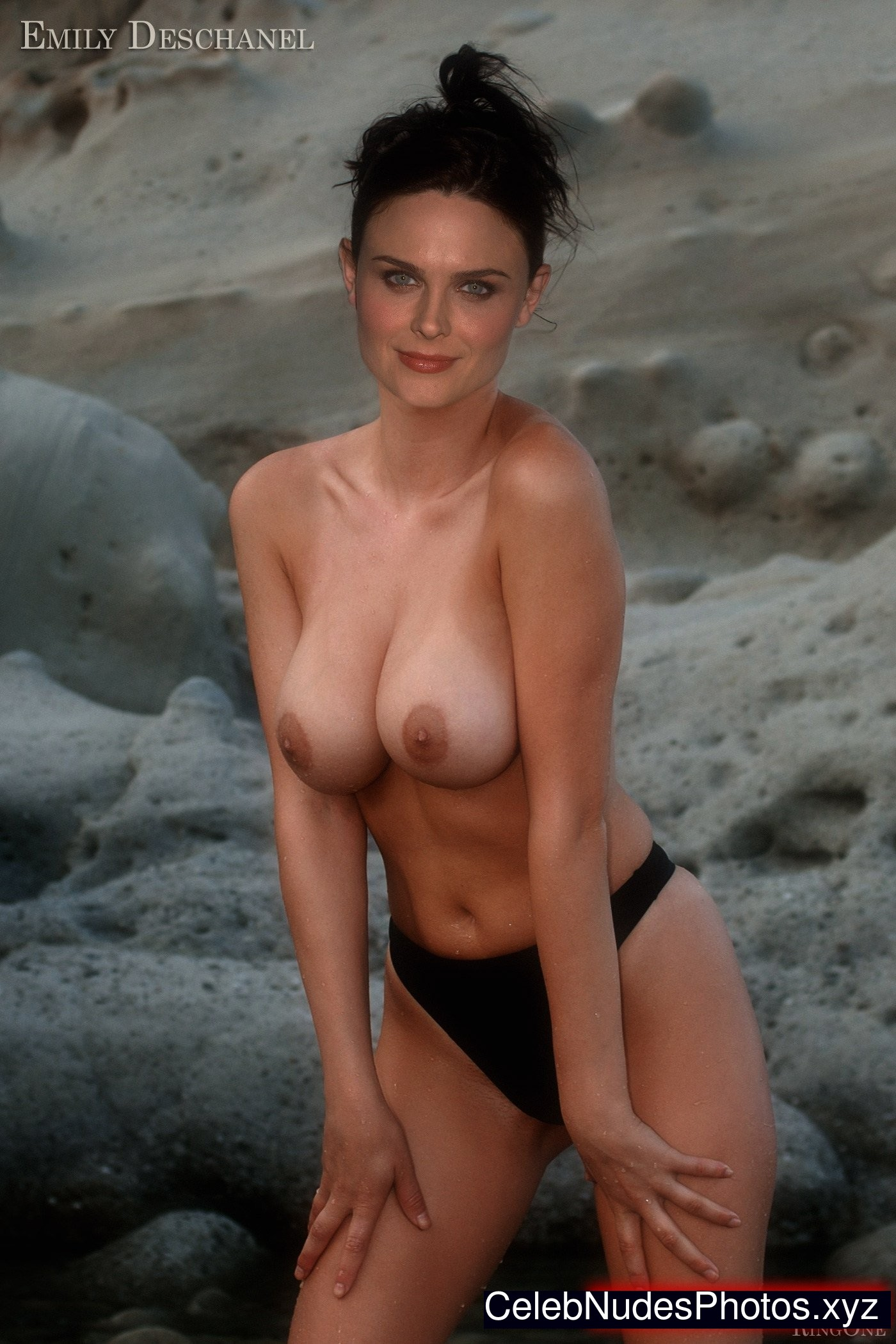 Topless emily deschanel