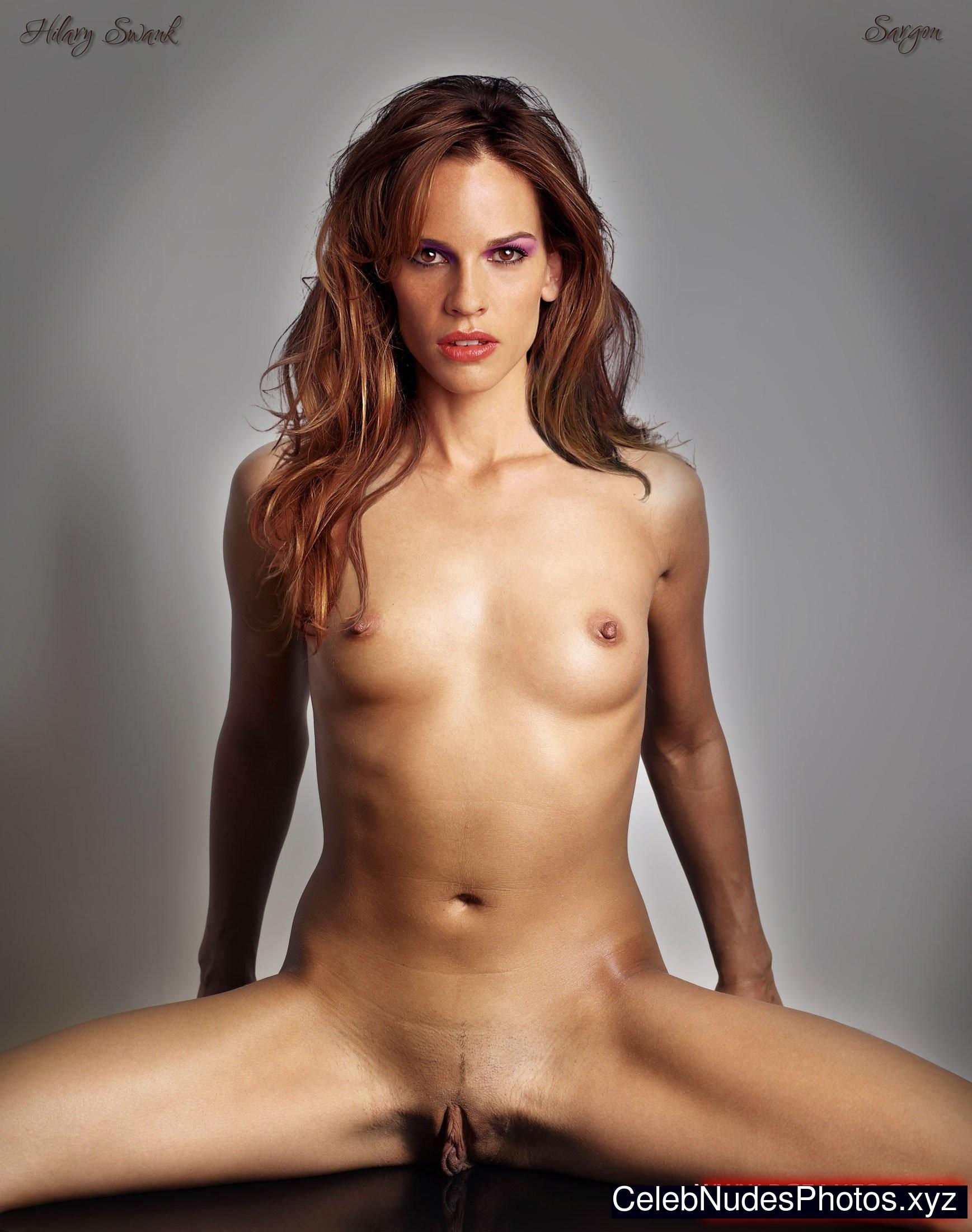 hilary swank topless